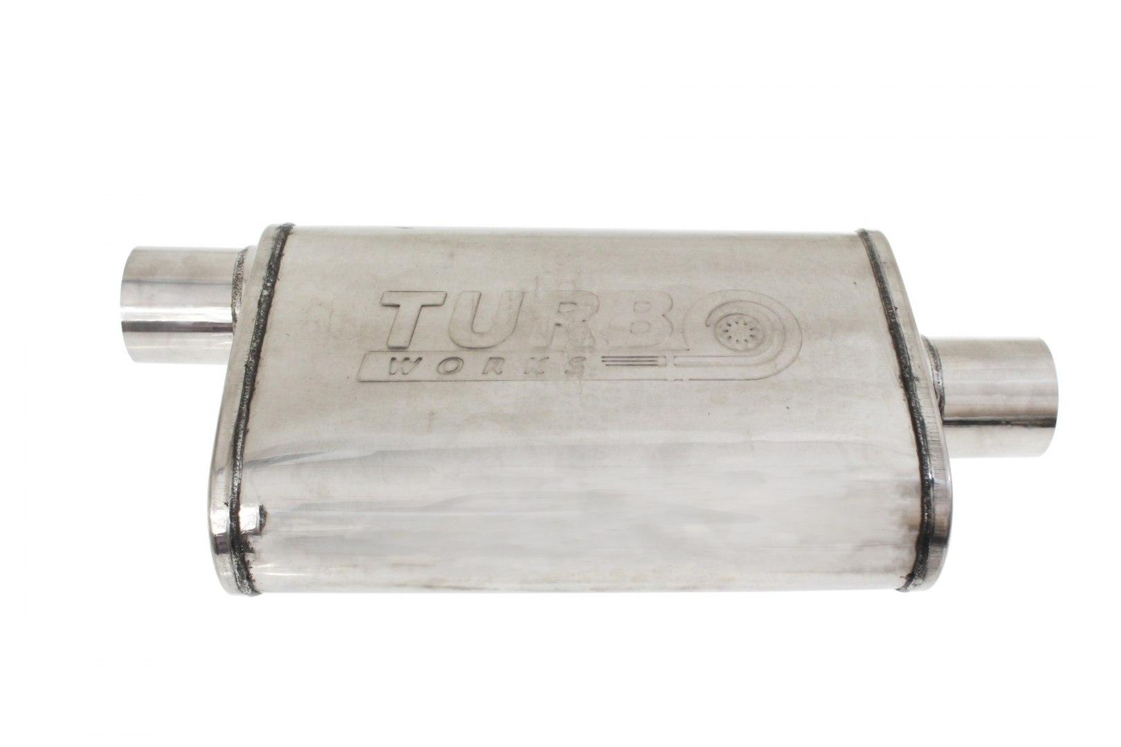 Tłumik Środkowy Komorowy 63,5mm TurboWorks 304SS - GRUBYGARAGE - Sklep Tuningowy